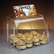 Plastic bagel display box