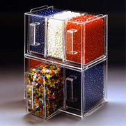 Plastic candy containers