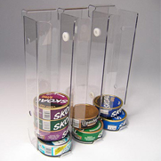 Plastic tobacco display container